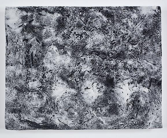 Virgin Space I (2011) Acrylic and volcanic ash on canvas 15.25h x 19.25w in (38.74h x 48.9w cm)