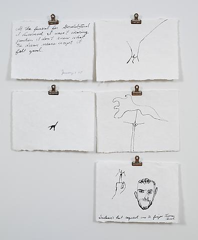 January 1, 2007 - Gerald Ford/Saddam (2007) Ink on paper 6.25h x 8.75w in (15.88h x 22.23w cm)
