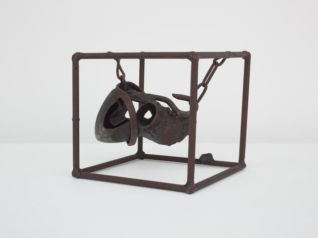 Untitled (Prototype I from Three Small Sculptures) (1965-66) Welded steel 7h x 7.5w x 6.75d in (17.8h x 19.1w x 17.1d cm)