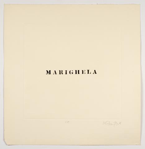 Luis Camnitzer, Marighela (1970) Etching 25.8h x 25w in (65.5h x 63.5w cm)