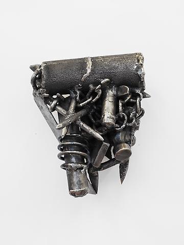 Mas Tandine (2007-2011) Welded steel 9.25h x 7.5w x 7.5d in (23.5h x 19.05w x 19.05d cm)