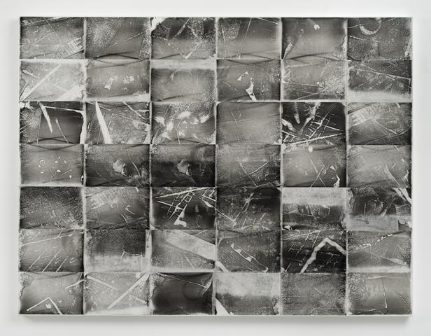 Xeroxed! III (1975) Xerox toner on rice paper mounted to canvas 60h x 79.5w x 2d in (152.4h x 201.9w x 5.1d cm)