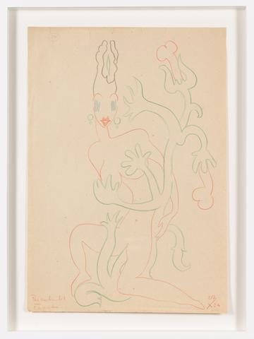 Untitled (1936) Colored pencil on paper 16.42h x 11.46w in (41.7h x 29.1w cm)