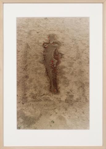 Ana Mendieta, <i>Encantación a Olokún-Yemayá (Incantation to Olokun-Yemaya)</i> (1977), Lifetime color photograph 20h x 13.25w in (50.8h x 33.7w cm)