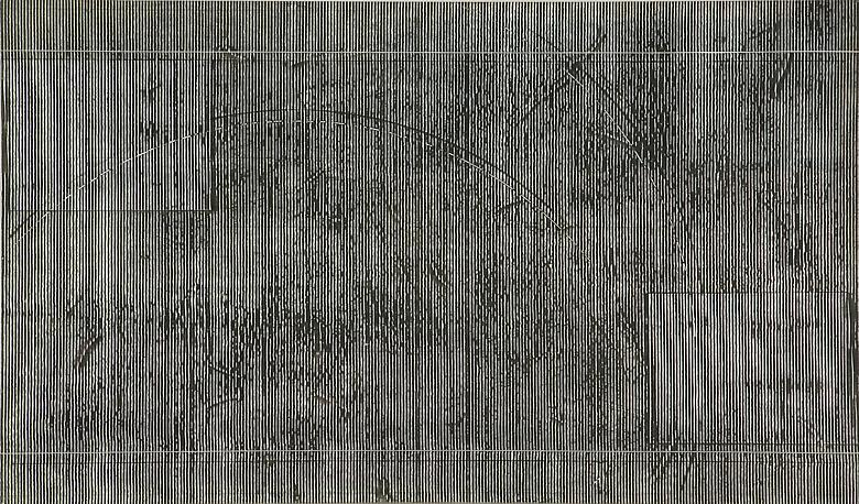 Taf II (1978) Acrylic on canvas 40.13h x 68.13w in (101.93h x 173.05w cm)