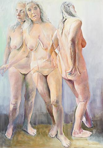 Joan Semmel The Unchosen (2011) Oil on canvas; 72h x 50w in (182.88h x 127w cm)