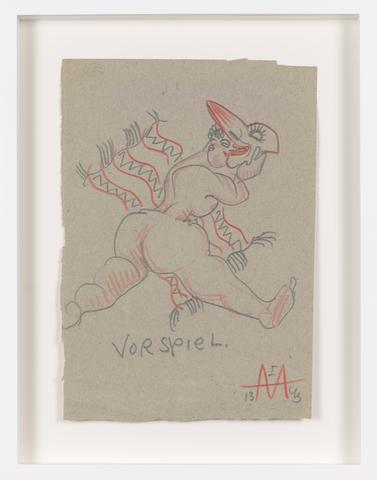 Untitled (1943) Colored pencil on paper 9.21h x 6.69w in (23.4h x 17w cm)