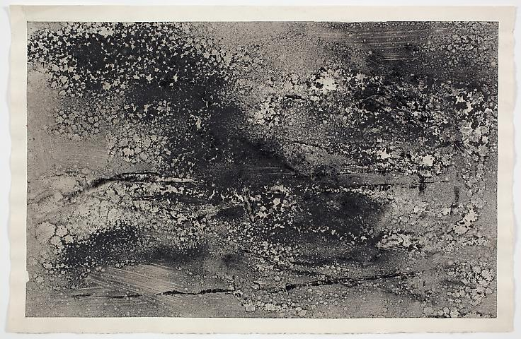 Dispersal 'B' #2 (1971) Dry pigment on paper 13h x 19.75w in (33.02h x 50.17w cm)