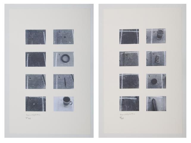 Hassan Sharif, <i>Places and Objects</i>, 1981, photographs On Cardboard 33.2h x 23.6w in (84.3h x 59.9w cm)