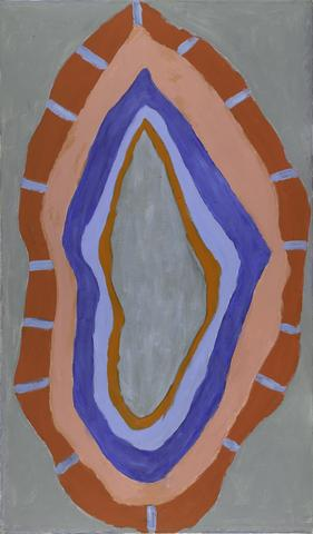 Flame (1967) Acrylic on canvas 69.5h x 40.5w in (176.5h x 102.9w cm)