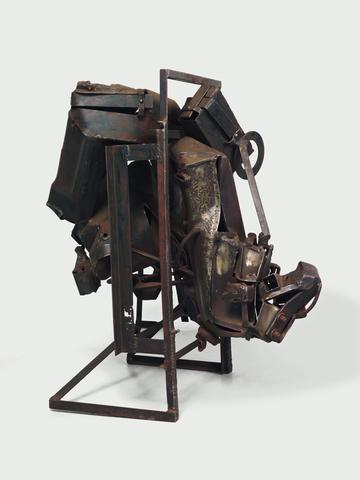 August the Squared Fire (1965) Welded steel 44h x 30w x 40d in (111.8h x 76.2w x 101.6d cm)