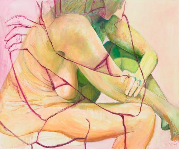 Flesh Ground (2016) Oil on canvas 60h x 72w in (152.4h x 182.9w cm)