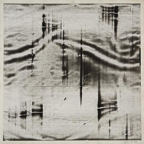 Liquid Space I (1976) Acrylic slip on paper 20.5h x 20.5w in (52.07h x 52.07w cm)