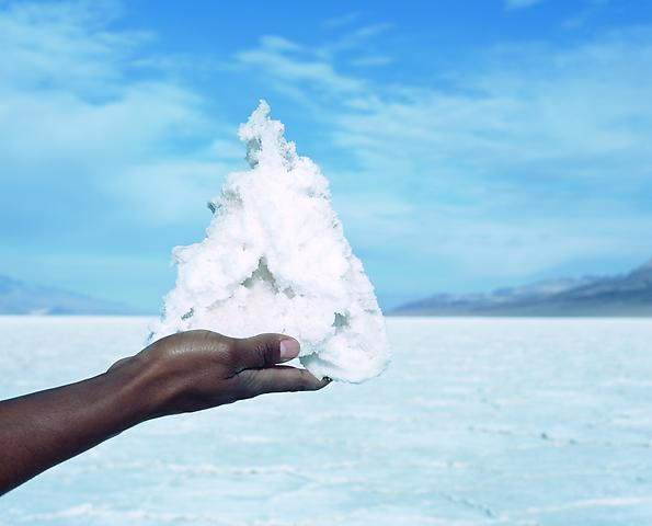 Proposition 2, Mountain, Badwater, Death Valley, California (temporary sculptural installation)  (2007) Digital print; Edition of 7 with 1 AP 26h x 36w in (66.04h x 91.44w cm)