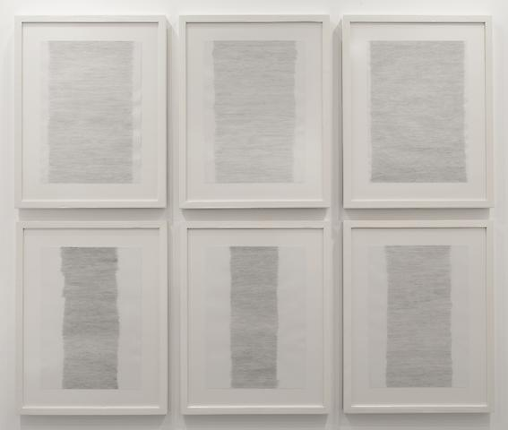 Hassan Sharif, Horizontal Lines (2012) Graphite on paper 23.39h x 16.54w in (59.41h x 42.01w cm)