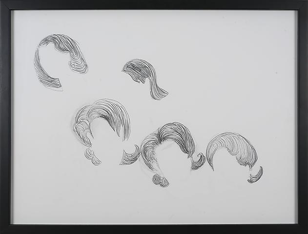 Condoleeza Quartet 2 (2006) Graphite on paper 18h x 24w in (45.72h x 60.96w cm)