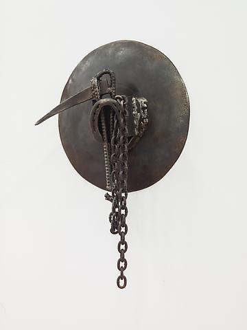 Dakar (2004) Welded steel 27h x 17w x 7.38d in (68.58h x 43.18w x 18.75d cm)