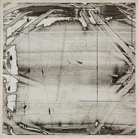 Liquid Space III (1976) Acrylic slip on paper 27h x 27w in (68.58h x 68.58w cm)