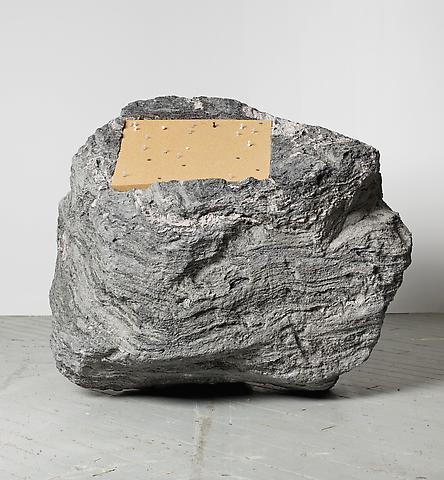 Paul Ramírez Jonas Publicar IV (2010) Volcanic rock, cork, pushpins