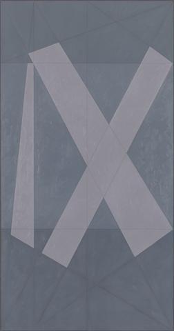 Roman IX (1981) Oil on canvas 95h x 50w in (241.3h x 127w cm)