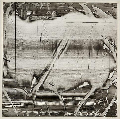 Liquid Space II (1976) Acrylic slip on paper 27h x 27w in (68.58h x 68.58w cm)