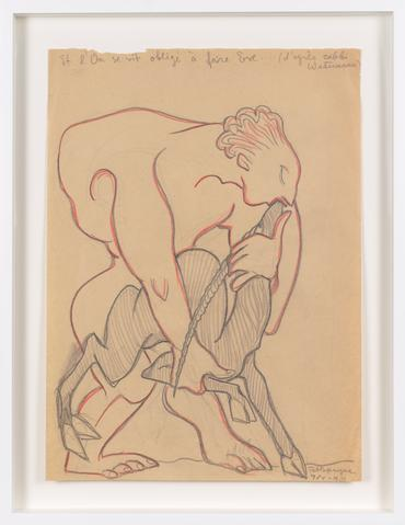 Untitled (1931) Colored pencil on paper  14.69h x 10.63w in (37.3h x 27w cm)