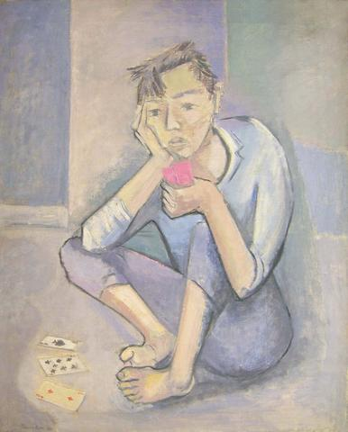 The Card Player (1938) Oil on canvas 30h x 25w in (76.2h x 63.5w cm)