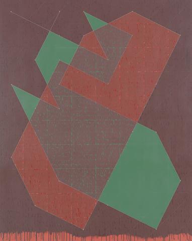Knight Series #8 (Q3-77 #2) (1977) Oil on canvas 90h x 72w in (228.6h x 182.9w cm)