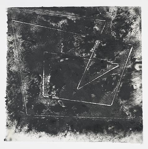 Jack Whitten, Target (In & Out) #3 (2011) Magnetite and acrylic on rice paper 17h x 17w in (43.18h x 43.18w cm)
