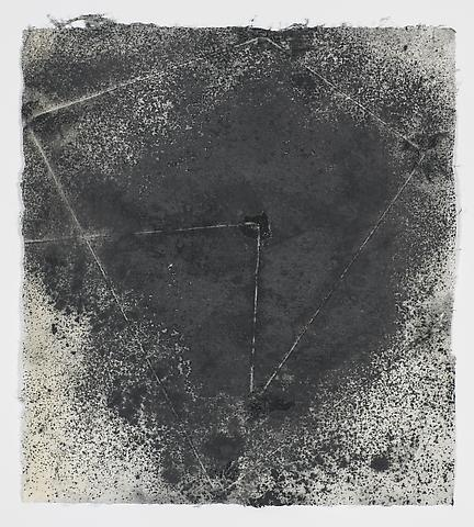 Jack Whitten, Target (In & Out) #16 (2011) Magnetite and acrylic on rice paper 7.75h x 8.75w in (19.68h x 22.23w cm)