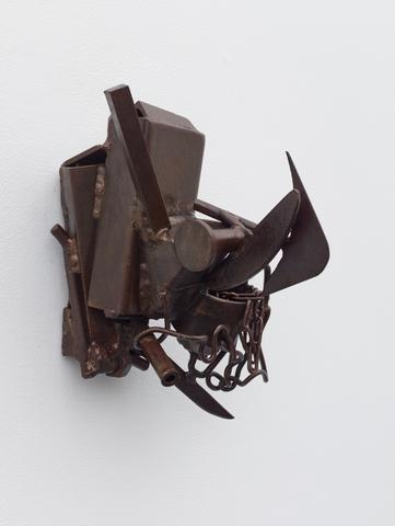 For Makina Kameya (1988) Welded steel 13.5h x 11.25w x 10.38d in (34.3h x 28.6w x 26.4d cm)