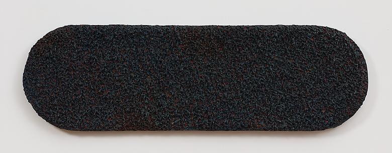 The Black Leaf (1976) Oil and wax on canvas 14h x 45.5w in (35.56h x 115.57w cm)