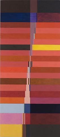 Thought in a Garden (2008) Oil on linen 86h x 38w in (218.44h x 96.52w cm)