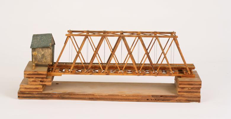 Siah Armajani, House Before the Bridge (1974-75) Mixed media 6.5h x 18w x 5.5d in (16.5h x 45.7w x 14d cm)