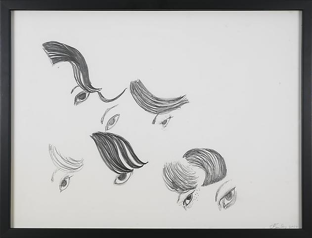 Condoleeza Quartet 4 (2006) Graphite on paper 18h x 24w in (45.72h x 60.96w cm)
