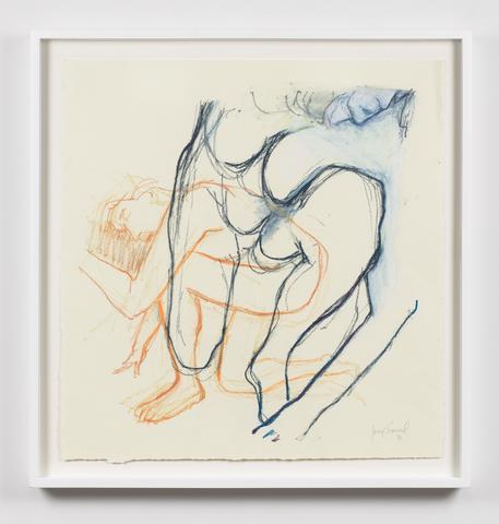 Untitled  (2016) Oil crayon on paper 23.5h x 22.25w in (59.7h x 56.5w cm)