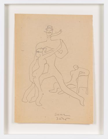 Untitled (1945) Graphite on paper 11.42h x 8.23w in (29h x 20.9w cm)