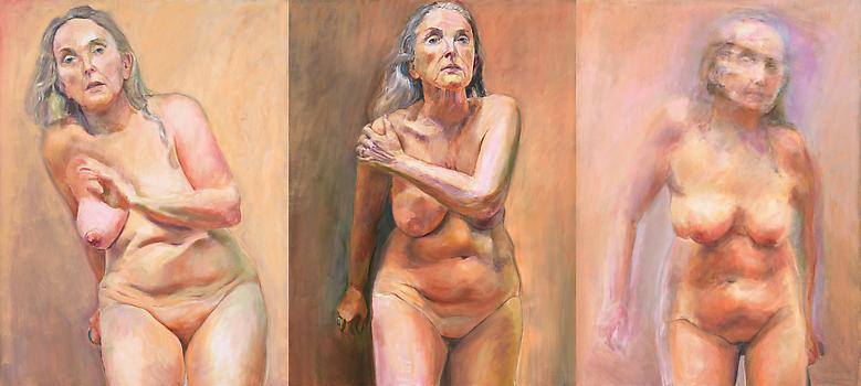 Triptych (2009) Oil on canvas Three canvases 40h x 90w in (101.6h x 228.6w cm)