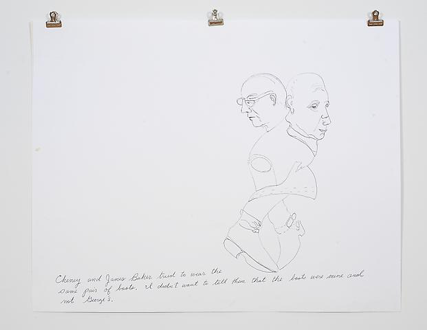 Laura Bush Dream Quartet-2 (2006) Ink on paper 19h x 24w in (48.26h x 60.96w cm)
