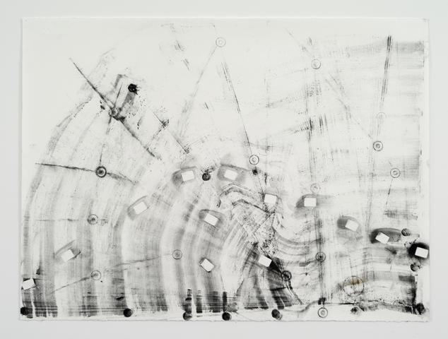 Transmission 'J' #1 (2013) Toner on paper 22h x 30w in (55.9h x 76.2w cm)