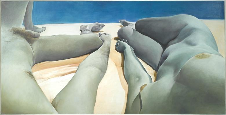Intimacy-Autonomy (1974) Oil on canvas 50h x 98w in (127h x 248.9w cm)
