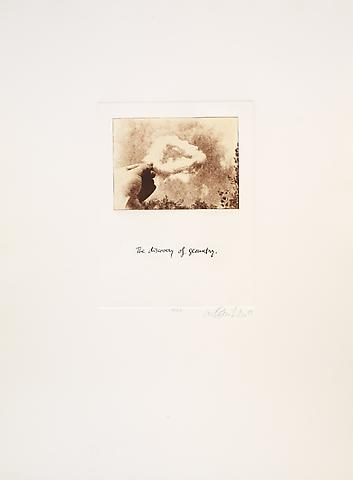 The Discovery of Geometry (1981) Photoetching 29.92h x 22.32w in (76h x 56.69w cm)