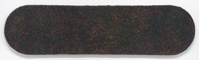 Ninja (1976) Oil and Dorland's wax on canvas 15h x 60w in (38.1h x 152.4w cm)