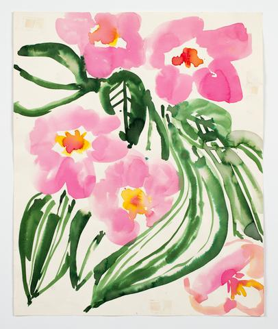 "Untitled, from the ""Florals"" series (c. 1977) Watercolor on paper  17h x 14w in (43.2h x 35.6w cm)"