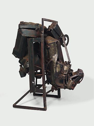August the Squared Fire (1965) Welded steel 44h x 30w x 40d in (111.76h x 76.2w x 101.6d cm)