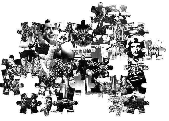 To Be Continued...(Latin American Puzzle)  (1998) Archival print and vinyl on paper