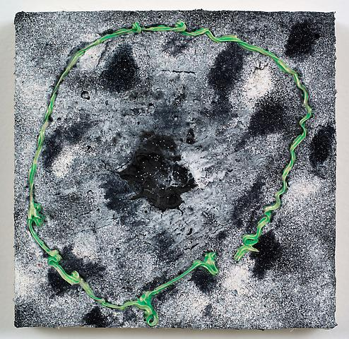 Loop #29 (Broken Circle) (2012) Acrylic on panel 8h x 8w in (20.32h x 20.32w cm)