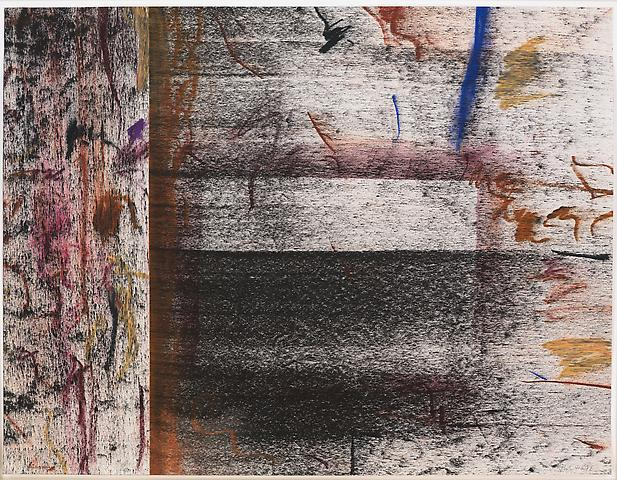Untitled Study #1 (1972) Pastel and powdered pigment on paper 20h x 26w in (50.8h x 66.04w cm)