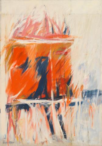 Duo I (1956) Oil on canvas 81.75h x 57.75w in (207.6h x 146.7w cm) Collection of the Whitney Museum of American Art, New York