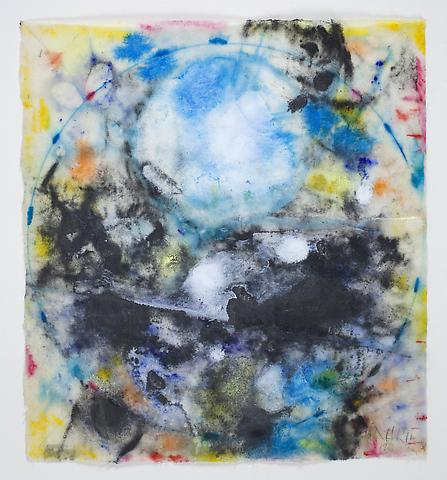 Saturaturion #3 (2011) Graphite, acquarelle, and acrylic on rice paper 8.5h x 7.75w in (21.59h x 19.68w cm)